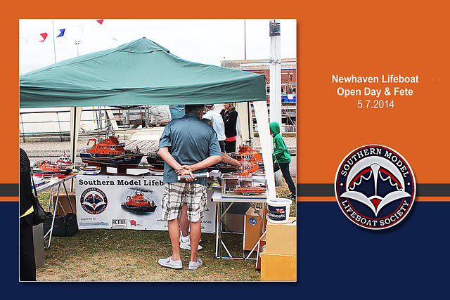 Southern Model Lifeboat Society stand  - Newhaven Lifeboat Station Open Day & Fete - 5.7.2014