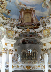 Wieskirche: Die Orgel der Wieskirche. ©UdoSm