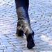 Dimani Swedish blond Lady in Dominatrix Boots /  Blonde suédoise en bottes à talons aiguilles -  Ängelholm / Suède - Sweden.   23-10-2008 -  Éclaircie