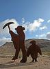 Rhyolite Public Art - Miner & Penguin (5319)