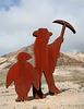 Rhyolite Public Art - Miner & Penguin (5323)