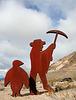 Rhyolite Public Art - Miner & Penguin (5324)