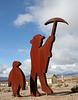 Rhyolite Public Art - Miner & Penguin (5325)