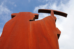 Rhyolite Public Art - Miner & Penguin (5328)