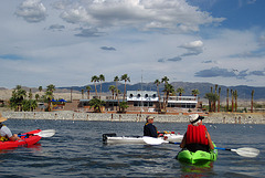 Kayaking On The Salton Sea to North Shore Yacht Club (0760)