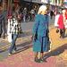 Inspiration blond Swedish mature Lady with black leather gloves /  Suédoise blonde du bel âge avec gants de cuir -  Ängelholm  / Suède - Sweden.  23 octobre 2008 - Postérisation