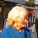 Inspiration blond Swedish mature Lady with black leather gloves /  Suédoise blonde du bel âge avec gants de cuir -  Ängelholm  / Suède - Sweden.  23 octobre 2008  - Étalement