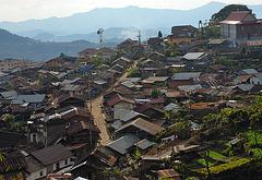 Phongsali in the bird's eye view