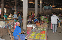Phongsali at the daily market