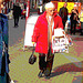 Inspiration red coat ultra mature Lady /  Dame inspirante du bel âge au manteau rouge -  Ängelholm /  Sweden - Suède -  23 octobre 2008 - Postérisation