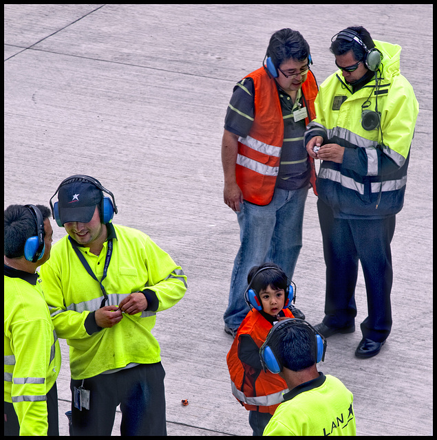 a relatively young ground crew......