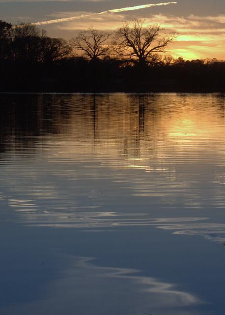 Pond at sunset 2