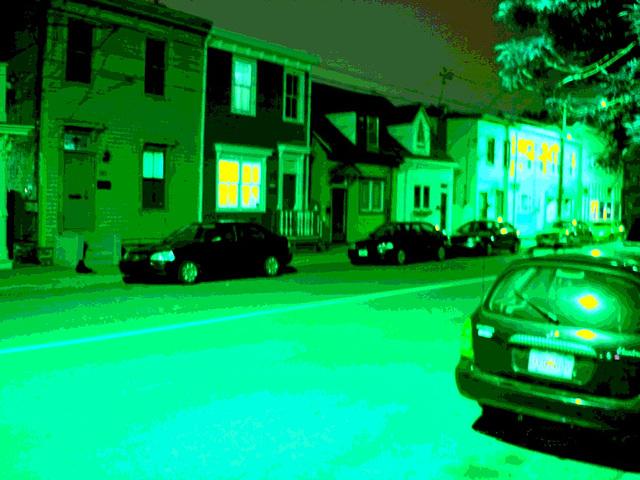 Halifax by the night  / Canada.  June / Juin 2008 - RVB photofiltré