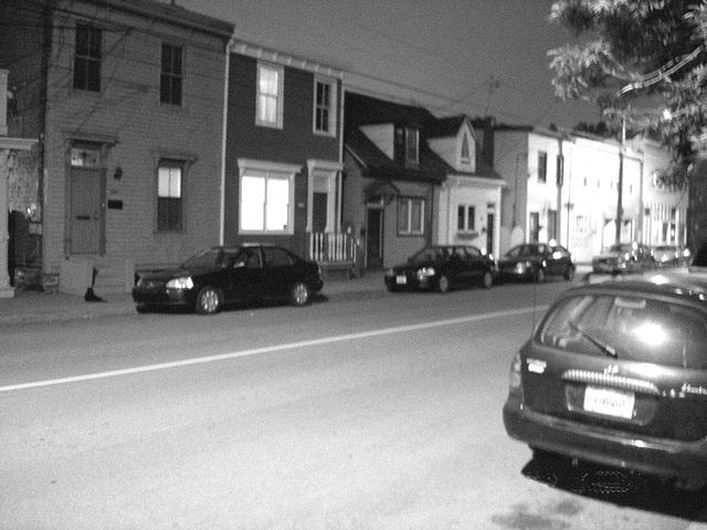 Halifax by the night  / Canada.  June / Juin 2008  - B & W / N & B