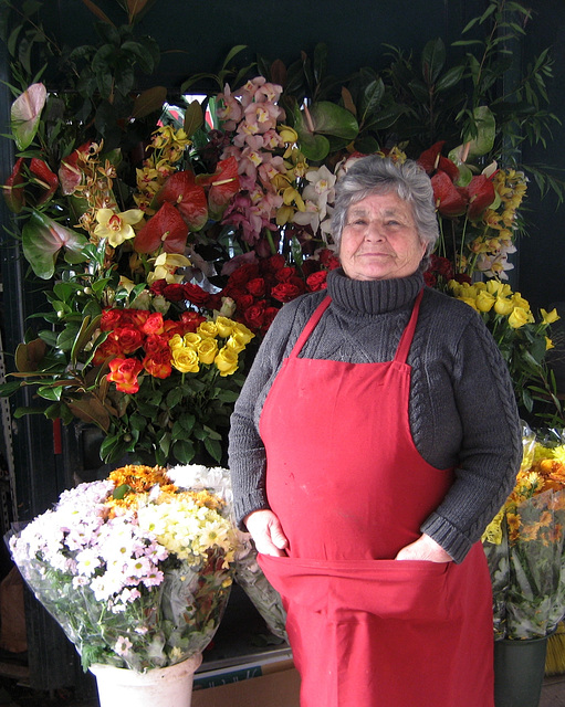 Benfica, flowers vendor