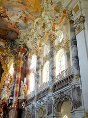 Wieskirche: Gallerie im Altarraum. ©UdoSm