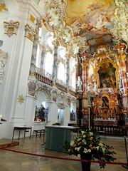Wieskirche: Gallerie im Altarraum-2. ©UdoSm