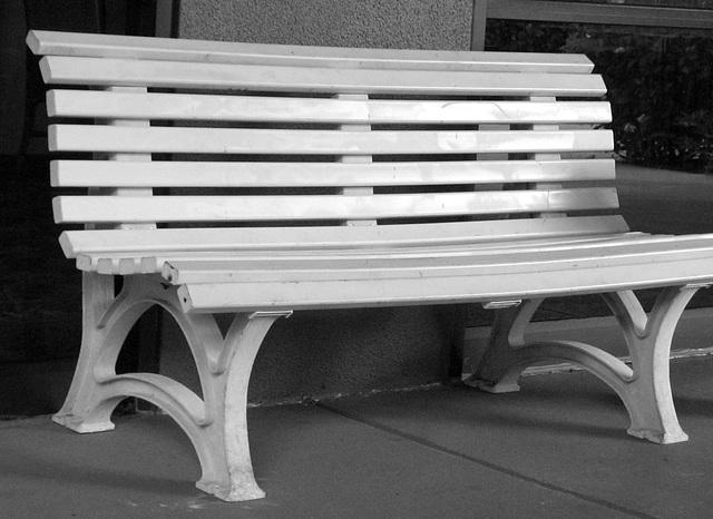 B & W Bench...