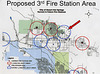 Proposed Fire Station Locations in blue