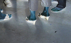 Chaussures et pieds érotiques de mariage /  Weding sexy feet and shoes  - Anonymes / Anonymous . Négatif
