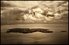 the island......