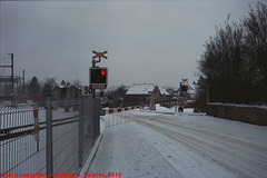 Cercany Crossing in the Snow, Picture 2, Cercany, Bohemia (CZ), 2010