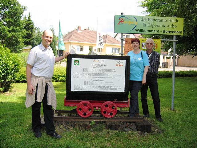 Memorvagoneto pri Joachhim Giessner en Esperanto-urbo Herzberg am Harz