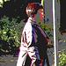 Dame d'âge mur en jeans et bottes à talons trapus /  Mature in rolled-up jeans and chunky heeled boots - Ängelholm / Suède - Sweden.  23 octobre 2008- Postérisation