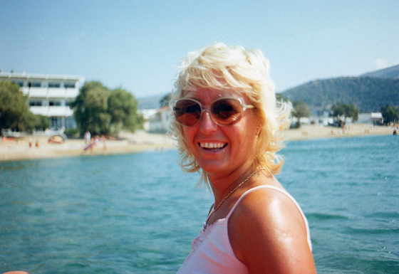 Aha me on a pedalo on Andros, Greece