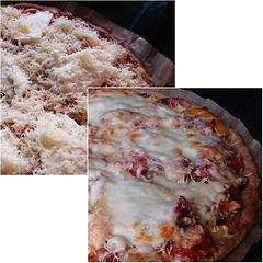 Low Carb Pizza without a flour crust. Pizzabodem gemaakt van tonijn en ei
