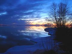 Coucher soleil au belvédère / Viewpoint sunset / Originale éclaircie / Lightened version