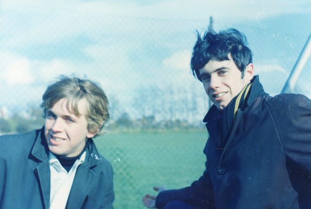 Martin with his friend Paddy