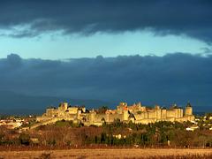 Carcassonne dopo un acquazzone