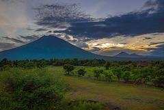Gunung Agung volcano on Bali