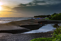Sunset at Pererenan beach