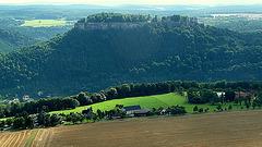 Blick vom Lilienstein auf Königstein