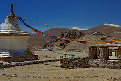 Vista to the Chiu Gompa