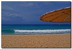 Strandschirm mit Welle