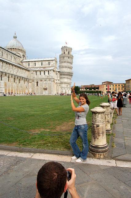 katedralo kaj Oblikva Turo de Pisa