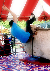 How to fall off a mechanical bull