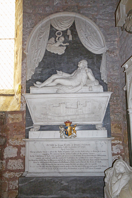 Memorial to Henry 2nd Earl of Darlington, Staindrop Church, County Durham
