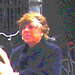 Fleshy & short Danish mature on the white lines /  Dame mature un peu dodue sur lignes blanches - Copenhague / Copenhagen.  20 octobre 2008 - Postérisation