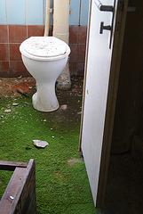 Grüner Toilettenvorleger