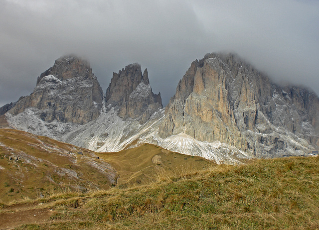 Die Langkofelgruppe in den Dolomiten