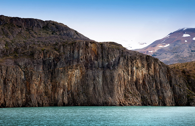 walls above turquoise water