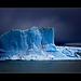 blue ice and dark sky