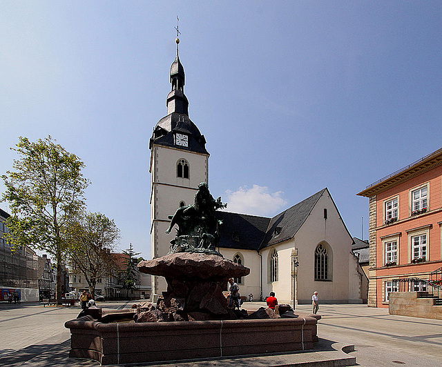 20100624 6061WSw [D~LIP] Donopbrunnen, Erlöserkirche,  Detmold