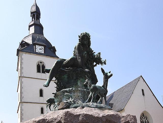 20100624 6062WSw [D~LIP] Donopbrunnen, Erlöserkirche, Detmold