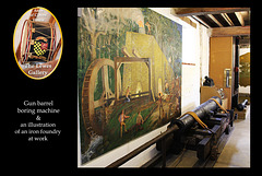 Gun barrel borer & foundry illustration  - Lewes Gallery - Anne of Cleves House - Lewes - 23.7. 2014
