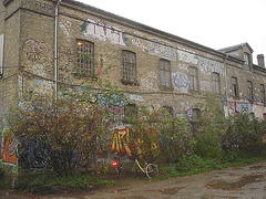 La maison Flex house / Christiania -  Copenhague / Copenhagen.  26 octobre 2008